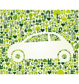 Green car with eco icons set vector image vector image