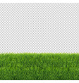 green grass border transparent background vector image vector image