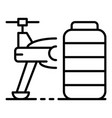 half of drone icon outline style vector image vector image