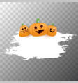 halloween web white grunge cartoon banner or vector image