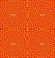 Hypnotic pattern orange vector image vector image