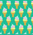 ice cream cones seamless pattern waffle vector image vector image