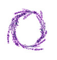 lavender flower wreath watercolor vector image vector image