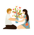 love and relationship growing concept psychology vector image