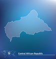 Map of Central African Republic vector image