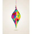 Merry Christmas multicolors hanging bauble vector image vector image