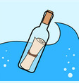 message in the bottle icon in cartoon style vector image vector image