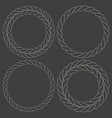 minimalist rope simple round frames set vector image