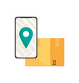 online cargo delivery tracking service vector image vector image