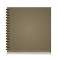 Paper notebook front cover vector image