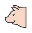 pig head farm animal filled style editable vector image vector image