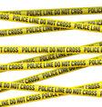 Police danger tape vector image