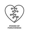 Power of forgiveness vector image vector image