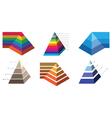 Pyramid chart 2 vector image vector image