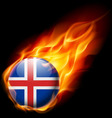 Round glossy icon of iceland vector image vector image