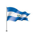 salvador flag on a white vector image vector image