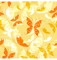 Seamless from color butterflies vector image vector image