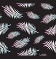 seamless pattern holographic palm leaves vector image