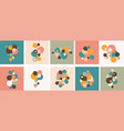 set abstract modern graphic elements and forms vector image vector image
