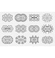 Set of Luxury Insignias Logotypes Template Retro vector image