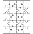 small white puzzle vector image vector image