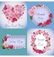spring banners with beautiful sakura flowers vector image