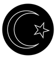 Star and crescent button vector image vector image