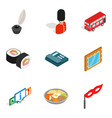 state of affairs icons set isometric style