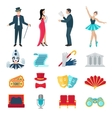 theater icons set vector image vector image