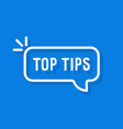 thin line top tips minimal bubble vector image vector image
