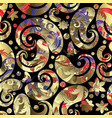 vintage ornamental paisley seamless pattern vector image