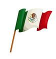 waving flag mexico icon vector image