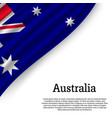 waving flag of australia vector image
