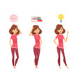 woman find solution thinking girl isolated vector image