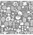 Beautiful seamless texture with birds and flowers vector image
