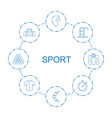 8 sport icons vector image vector image