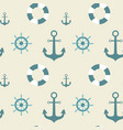 anchors seamless pattern marine vintage ornament vector image vector image