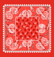 bandana red paisley design vector image