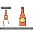 Beer bottle line icon vector image vector image