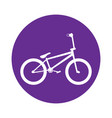 bicycle in a label vector image vector image