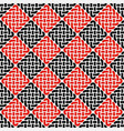 black and red knot seamless pattern vector image