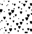 Black and white seamless pattern with hearts vector image vector image