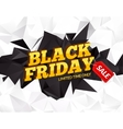 Black Friday sale polygonal background Discounts vector image vector image