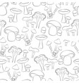 black mushroom in white background seamless vector image