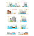 building construction sites store or warehouse vector image vector image