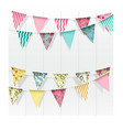 bunting flags decoration on isolated background vector image vector image