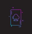 card icon design vector image vector image