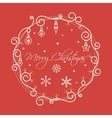 Christmas Frame Card vector image vector image