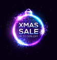christmas sale background xmas discount banner vector image