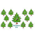 christmas tree emotions emoticons set isolated on vector image vector image
